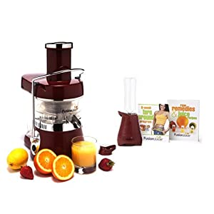 Fusion Juicer Classic (Red) with Booster Blender and Book Bundle by aSavings