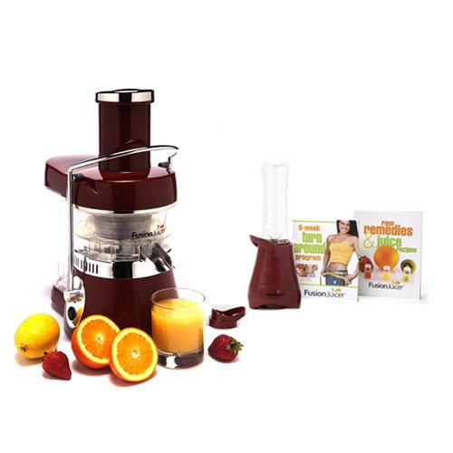 Why Should You Buy Fusion Juicer Classic (Red) with Booster Blender and Book Bundle