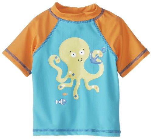 Little Me Baby-Boys Infant Octopus Rashguard, Blue Multi, 6-9 Months front-897854