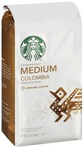 Starbucks Colombia Coffee (Medium), Ground, 12 Ounce