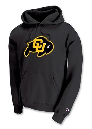 Champion NCAA Unisex Adult Colorado Golden Buffaloes Powerblend Hood (Black, Medium) by Champion