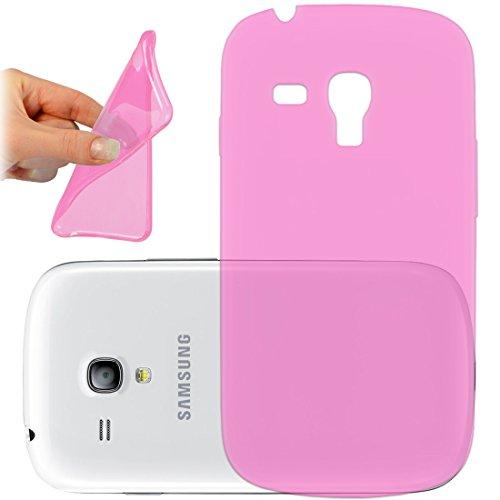 OneFlow PREMIUM - AERO-CASE aus transparentem Silikon (Ultra Slim) - für Samsung Galaxy Trend / Trend Plus (GT-S7560 / GT-S7580)) - PINK