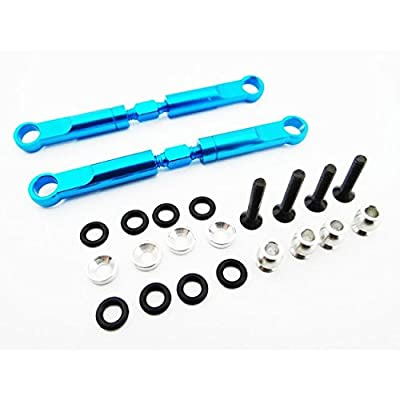 Hot Racing ECT5406 Aluminum 72mm Front Turnbuckles (blue) - ECX 2WD