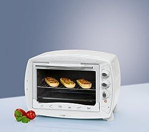 mbg 3113 mini backofen mit 1600 watt und 26 litern backraum umluft hei luft grill miniofen. Black Bedroom Furniture Sets. Home Design Ideas