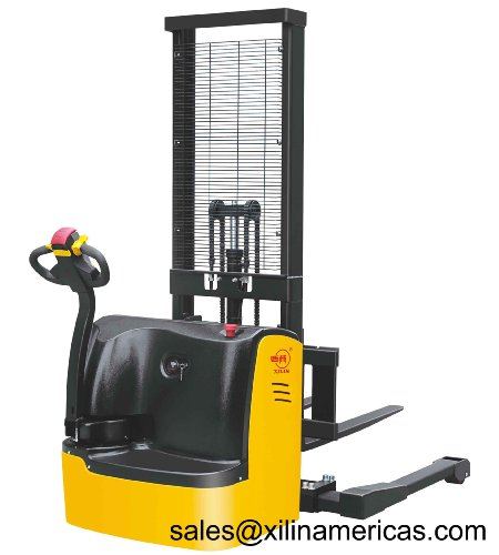 "Xilin Walkie Electric Stacker Forklift 3300Lb Capacity 63"" Lift Height◎"