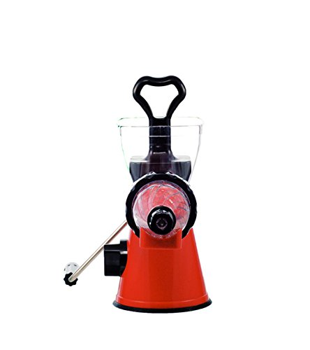 ZWEISSEN Hand Operated Fruit and vegetable Masticating Slow juicer and Cold Press pulp extractor ...