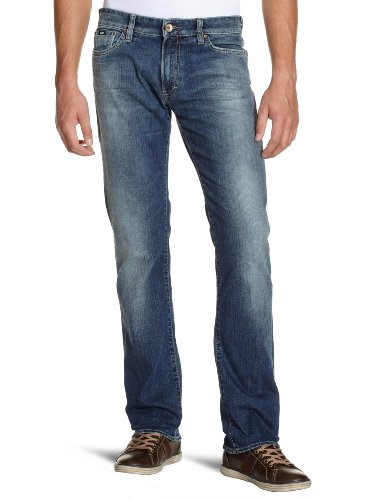 GAS 35123734030955 Norton RS N. W179 Straight Men's Jeans Blue W38INxL34IN