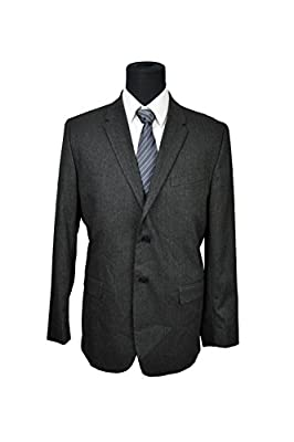 Calvin Klein Men's Slim fit Two Button Black Blazer Jacket, Size X-Large