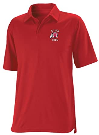 Buy NCAA Utah Utes Mens Dri-Power Solid Polo by Russell Athletic