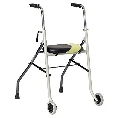 Andador muy ligero plegable con asiento y dos ruedas Actio2