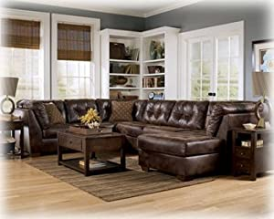 Amazon.com - Brown Sectional by Ashley Furniture - Sectional Sofas