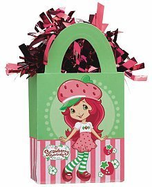 Strawberry Shortcake Mini Tote Balloon Weight - 5.5 In. x 3 In. Each