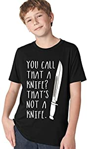 Youth That's Not A Knife T Shirt Funny TV Shirt Crocodile Tee For Kids L