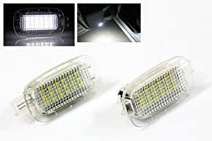 2X Mercedes Benz S-Class W221 White LED SMD Lights Mirrors/Glove Box/Trunk Lamps