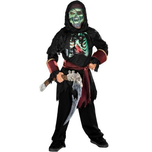 Lenticular Skeleton Pirate Childrens Halloween Costume