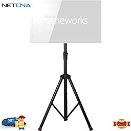 Frameworks Deluxe Tripod LCD/LED Stand and Free 6 Feet Netcna HDMI Cable - By NETCNA