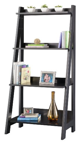 BUSH FURNITURE Alamosa Ladder Bookcase Bush Furniture 4 Shelf Bookcase