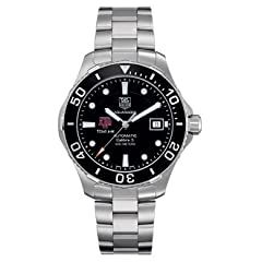 Texas A&M Men's TAG Heuer Automatic Aquaracer with Black Bez