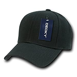 DECKY Fitted Cap, Black, 6 3/4