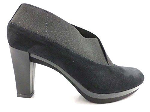 scarpe donna GUIDO SGARIGLIA 40 EU tronchetti nero camoscio AY116