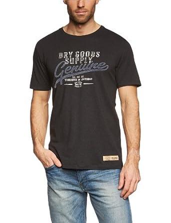 ESPRIT Herren T-Shirt Slim Fit K30613, Gr. 56 (XXL), Schwarz (black melange 002)