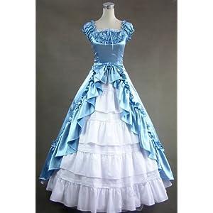 Halloween Costumes For Women Renaissance Gothic Wedding Dress Ball Gown Custom Hand Made
