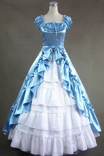 Renaissance Gothic Wedding Dress Ball Gown Prom-Please Email us your Custom-Information