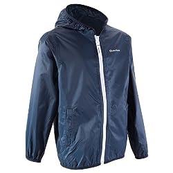 Quechua Raincut Zip Jacket, Junior 12 Years (Purple)