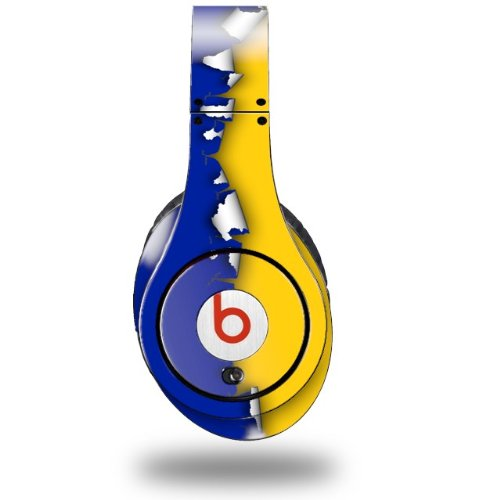 Ripped Colors Blue Yellow Decal Style Skin (Fits Original Beats Studio Headphones - Headphones Not Included)