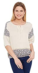 Meee Women's Wrap Top (MEEE-091108_off-white_X-Large)