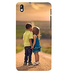 Printvisa Premium Back Cover Girl And A Boy Childhood Affection Design For HTC Desire 816::HTC Desire 816 G