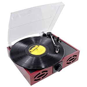PYLE-HOME PVNT7U Retro Style Turntable with USB-to-PC