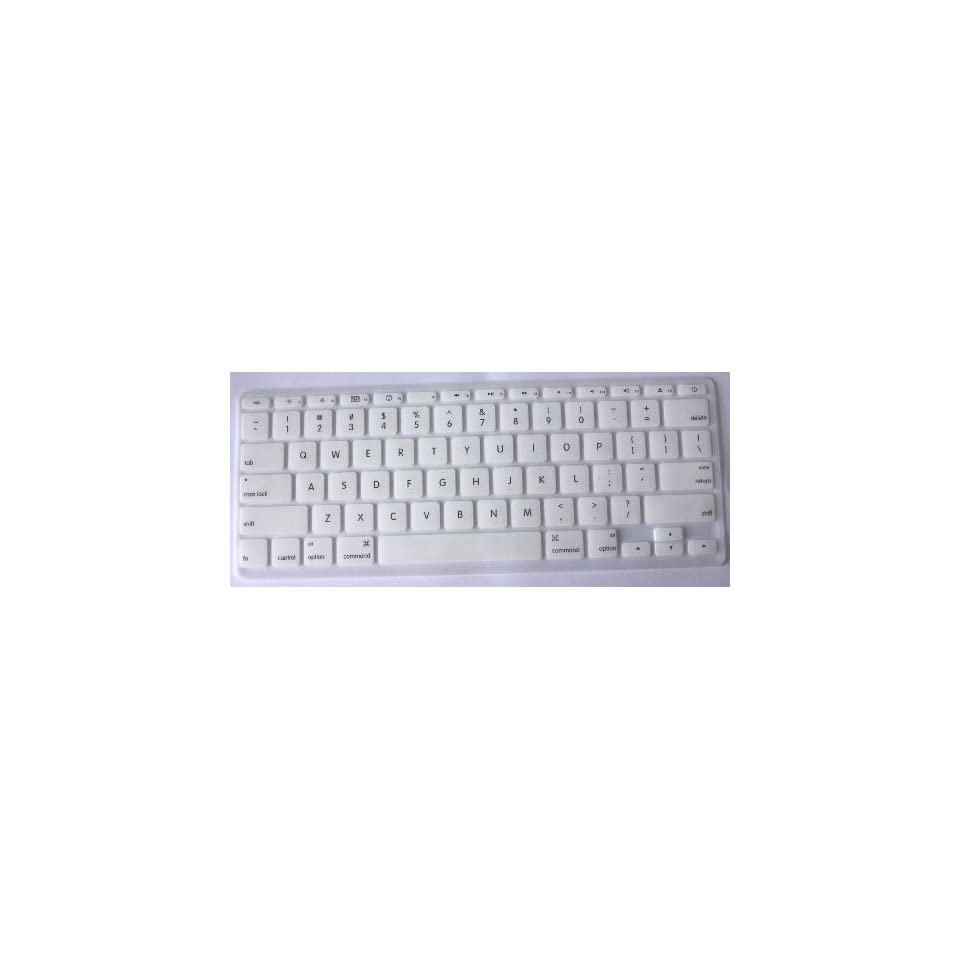 Koolshop WHITE Keyboard Silicone Cover Skin for MacBook Air 11 Unibody with package box