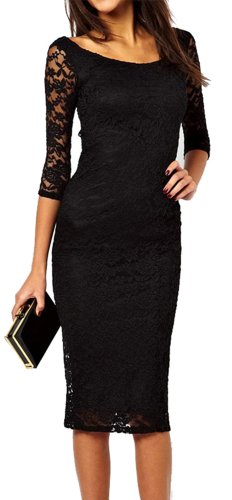 made2envy-Boat-Neckline-23-Sleeves-Lace-Overlay-Evening-Midi-Dress