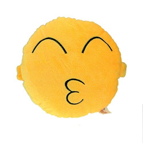 Atdoshop(TM) Autotechnik Sitz-Kopf-Hals Emoji Smiley Niedliches Kissen-Kissen-Spielzeug-Geschenk (kuss)