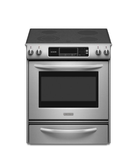 Kitchenaid KESK901SSS Thermal Oven Glass Cooktop Front Control Knobs Architect Series II (Kitchenaid Stove Top compare prices)