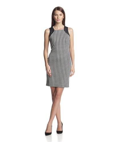 Marc New York Women's Triangle Print Dress with Faux Leather