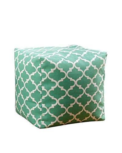 Abbyson Living Milana Moroccan 18 Square Pouf, Green Lattice