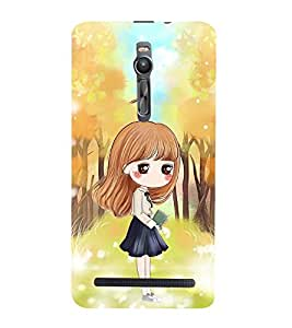 Vizagbeats School/College Girl Back Case Cover for Asus Zenfone 2::Asus Znfone 2 ZE550ML