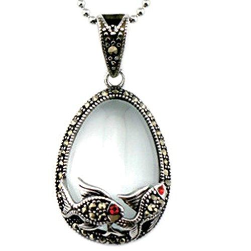 alimab braccialetto in acciaio inox, da donna ciondolo goccia pesci, acciaio inossidabile, colore: bianco, cod. bqy91