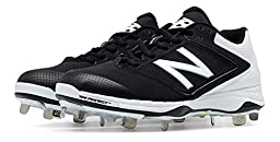 New Balance Low Cut 4040v1 Womens Cushioning Metal Softball Cleat 10.5 Black-White