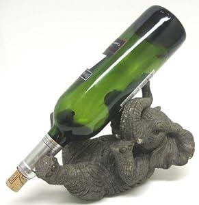 Playful elephant tabletop wine bottle holder - Elephant wine bottle holder ...