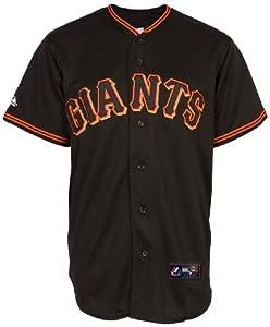 MLB Mens San Francisco Giants Away Black Tim Lincecum Black Short Sleeve 6 Button... by Majestic