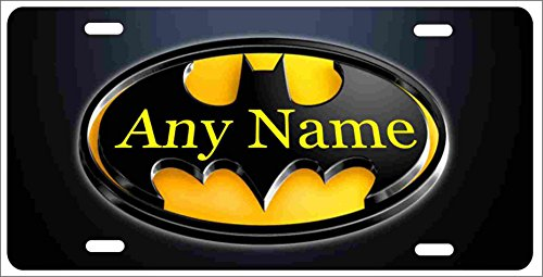 Batman Batmobile personalized Customized novelty front license plate decorative vanity aluminum car tag can be used as a door sign (Personalized Car Accessories compare prices)