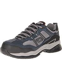 Skechers for Work Men's 77013 Soft Stride Grinnel Slip Resistant Steel Toe Work Shoe