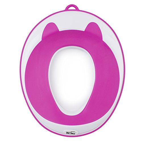 buy Potty Training Seat- Portable, Travel Potty Seat-Kids Toilet Training Ring by BNZHome Comfortable Secure 100%Non-Slip, Potty Seat for Kids with Storage Hook. for sale