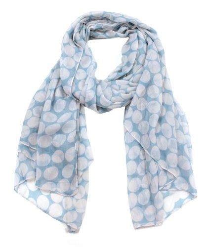 Modadorn New Arrivals Fall To Winter Polka Dot Print Scarf Blue