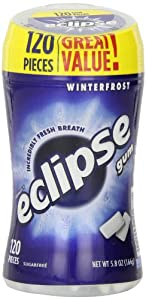 Eclipse Chewing Gum, Winterfrost, 120-Count Tall Bottle