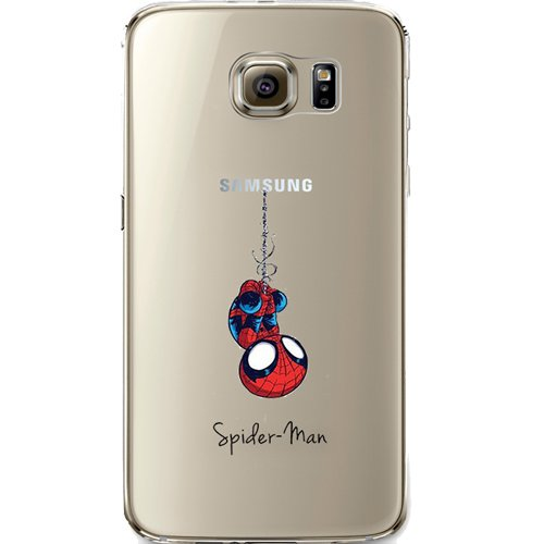 Batman, Catwoman, Harley Quinn, Wonder Woman, Superman, Spider Man, The Hulk, Deadpool Jelly Clear Case for Samsung Galaxy S7 (Spider Man)