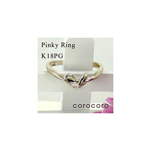 ハートモチーフピンキーリング指輪K18ピンクゴールド